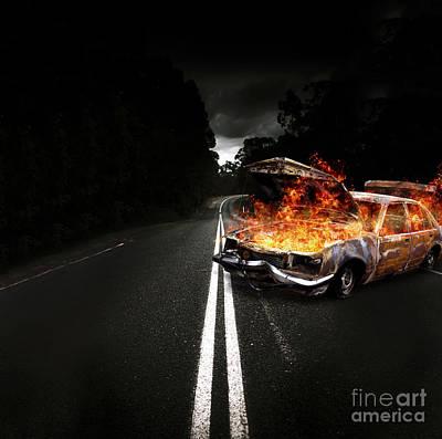 Explosive Car Bomb Print by Jorgo Photography - Wall Art Gallery