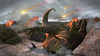 Fireball Photograph - Extinction Of The Dinosaurs by Karsten Schneider