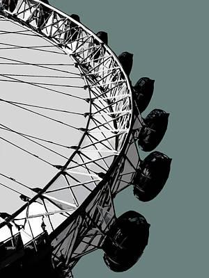 Architecture Mixed Media - Eye - Blue Grey by Big Fat Arts