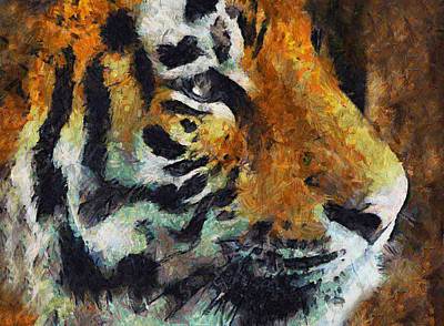 Eye Of The Tiger Print by Georgiana Romanovna