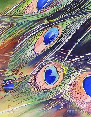 Peacock Painting - Eyes Of The Stars by Robert Hooper