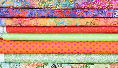 Fabric Rolls Print by Tom Gowanlock