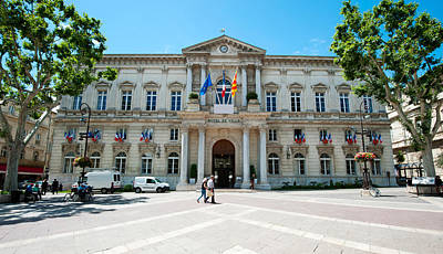 Facade Of A Building, Hotel De Ville Print by Panoramic Images