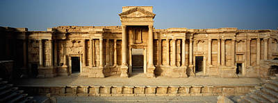 Palmyra Photograph - Facade Of A Building, Palmyra, Syria by Panoramic Images