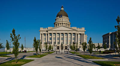 Facade Of A Government Building, Utah Print by Panoramic Images