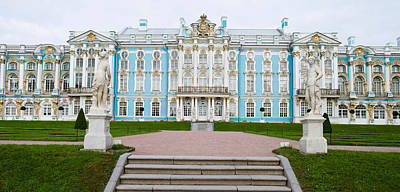 Facade Of A Palace, Tsarskoe Selo Print by Panoramic Images