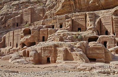 facade street in Nabataean ancient town Petra Original by Juergen Ritterbach