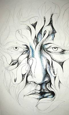 Face Drawing - Face by Moshfegh Rakhsha