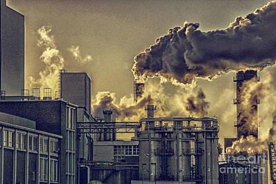 Factory Fumes Print by Patricia Hofmeester