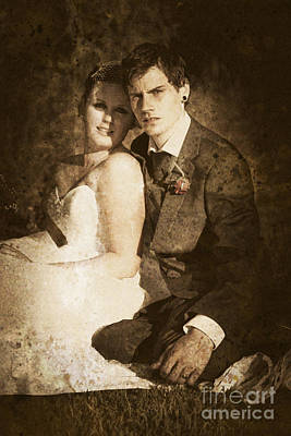 Faded Vintage Wedding Photograph Print by Jorgo Photography - Wall Art Gallery