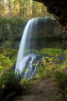 Fall Foliage Photograph - Fall Foliage, Lower South Falls, Silver by Timothy Herpel