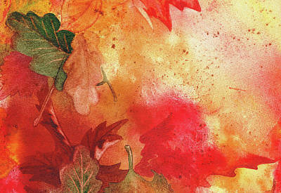 Creative Wall Designs Painting - Fall Impressions  by Irina Sztukowski