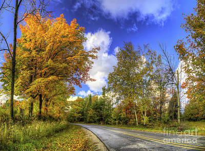 Backroad Photograph - Fall Road In Northern Michigan by Twenty Two North Photography