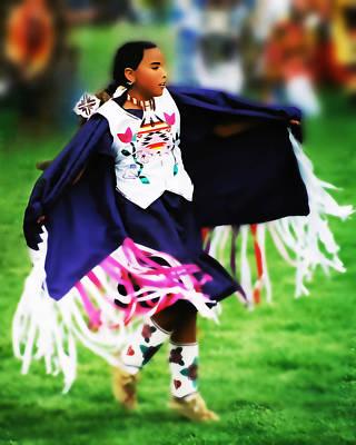 Powwow Photograph - Fancy Shawl Dancer 2 by Terril Heilman
