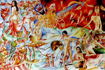 Genio Painting - Fantasy And Plagiarism by Genio GgXpress