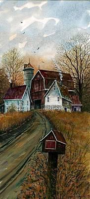 Mail Box Painting - Farmhouse Mailbox by Steven Schultz