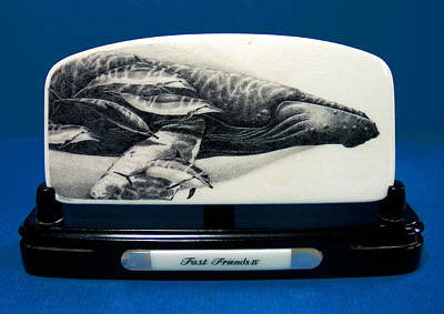 Scrimshaw Drawing - Fast Friends Iv by Robert Weiss