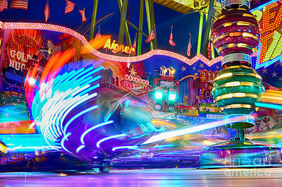 Muenchen Photograph - Fast Ride At The Octoberfest In Munich by Sabine Jacobs