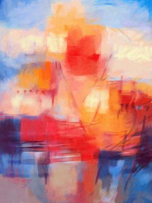 Abstract Digital Painting - Fata Morgana by Lutz Baar
