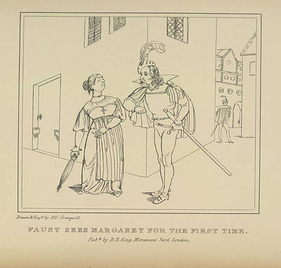 Faust Photograph - Faust And Margaret by British Library