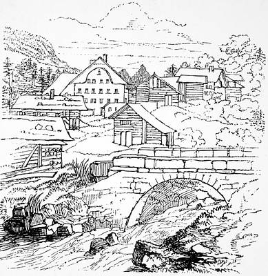 Village Scene Drawing - Felix Mendelssohn (1809-1847) by Granger