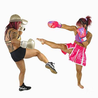 Kick Boxer Photograph - Female Kick Boxer  by Ilan Rosen