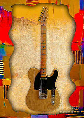 Instrument Mixed Media - Fender Telecaster Collection by Marvin Blaine