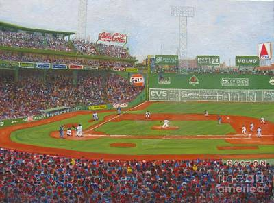Tim Wakefield Painting - Fenway Park by Claire Norris