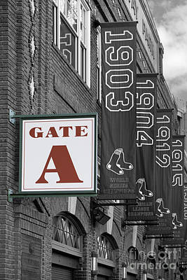 Fenway Park Gate A Print by Jerry Fornarotto