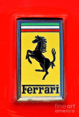 Ferrari Photograph - Ferrari Badge by George Atsametakis