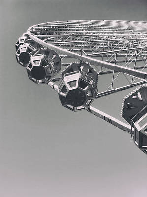 Lyon France Photograph - Ferris Wheel In Lyon France by Mountain Dreams