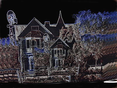 Film Homage The House Of Usher 1965 Hoyle's Castle White Oaks N.m. 1968-2012 Print by David Lee Guss