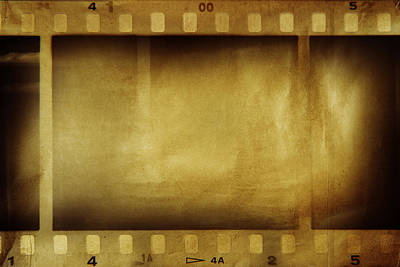Emulsion Photograph - Film Strips by Les Cunliffe