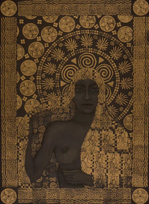 Fin-de-siecle Goddess Print by Diana Perfect