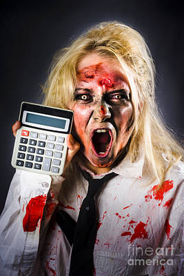 Finance Tax Accountant. Return From The Dead Print by Jorgo Photography - Wall Art Gallery