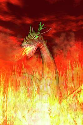 Dragon Photograph - Fire-breathing Dragon by Carol & Mike Werner