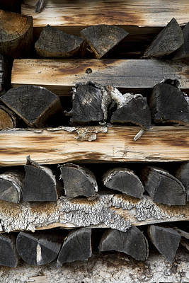 Self Photograph - Firewood Stack by Frank Tschakert
