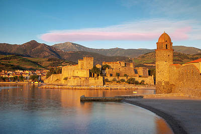 Languedoc Photograph - First Light Of Dawn Over Town by Brian Jannsen