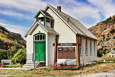 Washakie Photograph - First Washakie County Church by Cathy Anderson