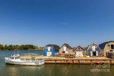 Fishing Dock In Prince Edward Island  Print by Elena Elisseeva