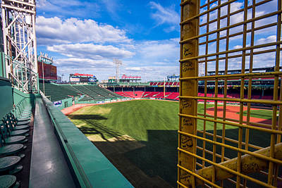 Fisk's Pole And The Green Monster Print by Tom Gort
