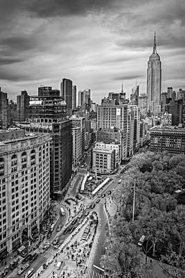 Black And White Photograph - Flatiron District And The Empire State Building by Susan Candelario