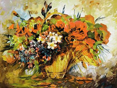 Floral 10 Original by Mahnoor Shah