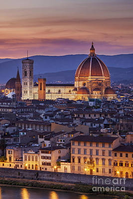 Tuscan Dusk Photograph - Florence Duomo by Brian Jannsen