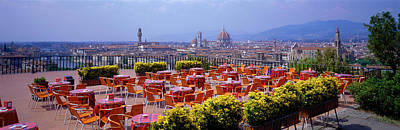 Empty Chairs Photograph - Florence, Italy by Panoramic Images
