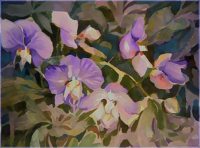 Florida Orchids Print by Mindy Newman