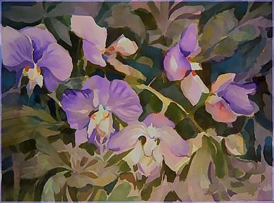 Florida Flowers Digital Art - Florida Orchids by Mindy Newman