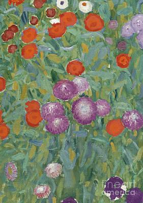 Vienna Painting - Flower Garden by Gustav Klimt