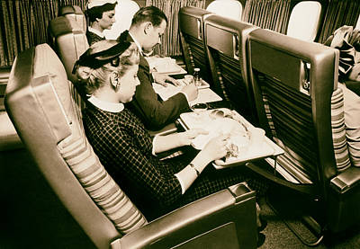 Flying Scandinavian Airlines In The 1960s Print by Mountain Dreams