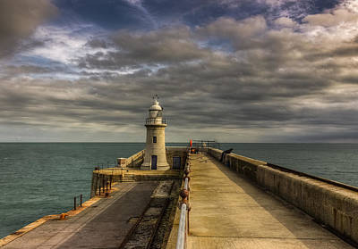 Trawler Photograph - Folkestone Lighthouse by Ian Hufton
